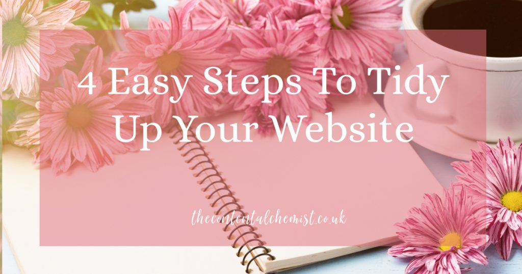 4 easy steps to tidy up your website