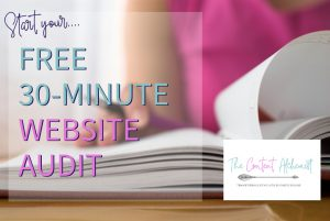 The Content Alchemist - 30-minute free website audit for small businesses