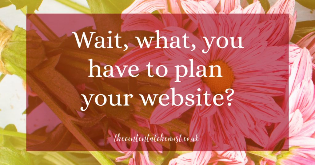 Blog Post: wait what you have to plan your website